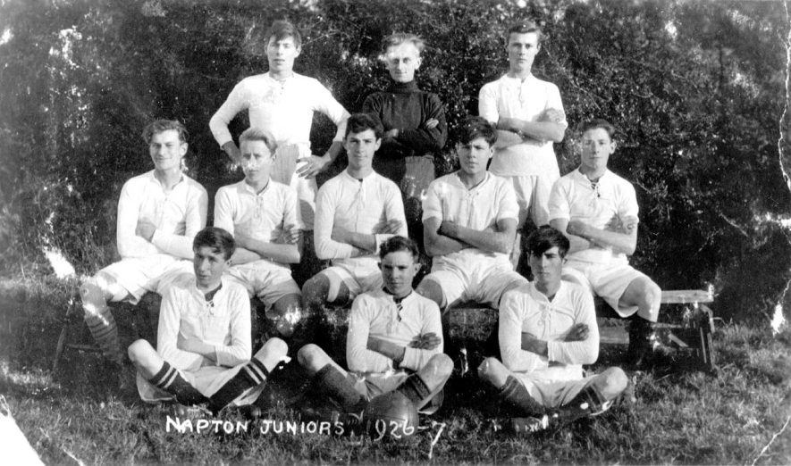 Group photograph of Napton Juniors Football Club.  1926/27 |  IMAGE LOCATION: (Warwickshire County Record Office)