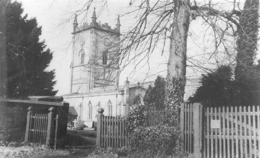 Grendon parish church tower.  1900s. |  IMAGE LOCATION: (Warwickshire County Record Office)