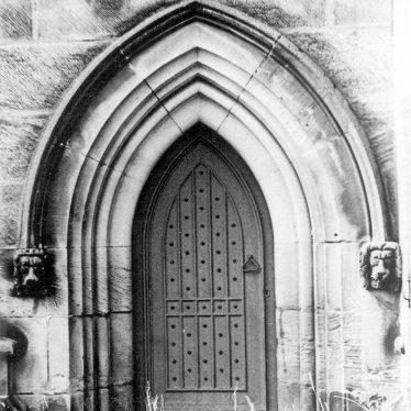 Grendon.  Church, door