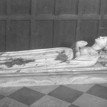 Grendon.  Church, effigy