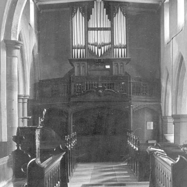 Grendon.  Church, organ