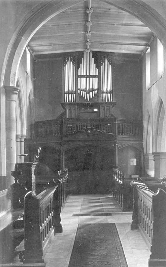 Grendon parish church organ.  1900s |  IMAGE LOCATION: (Warwickshire County Record Office)