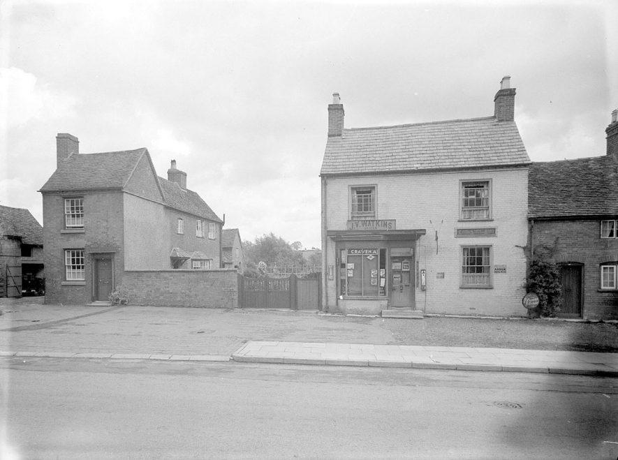 J V Watkin's grocery shop, Henley in Arden.  1944 |  IMAGE LOCATION: (Warwickshire County Record Office)
