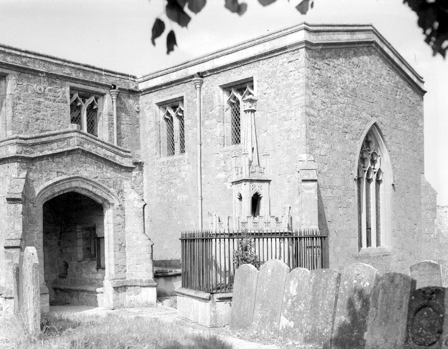 South porch of St Mary' s church, Ilmington.  1948 |  IMAGE LOCATION: (Warwickshire County Record Office)