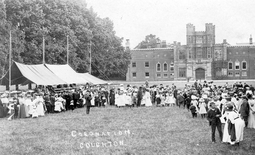 Coronation celebrations at Coughton Court.  1911 |  IMAGE LOCATION: (Warwickshire County Record Office)