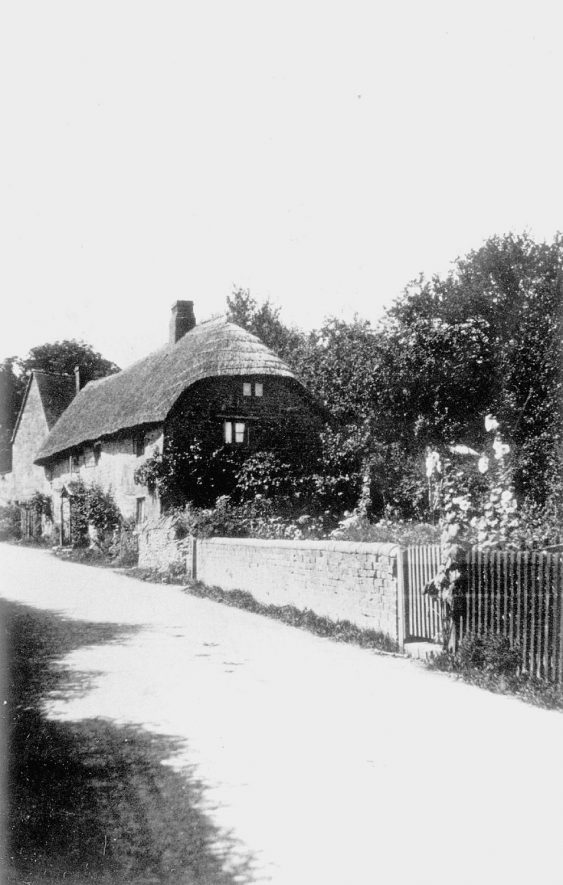 Two cottages in Back street, which have now been demolished, Ilmington.  1912 |  IMAGE LOCATION: (Warwickshire County Record Office)