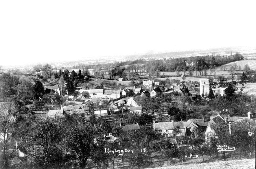 A view across the village of Ilmington from Foxcote Hill.  1930 |  IMAGE LOCATION: (Warwickshire County Record Office)