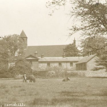 Hartshill.  Church and farm