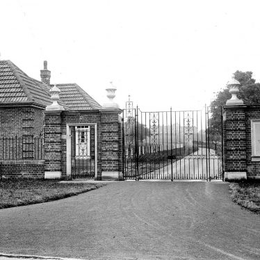 Hatton.  Main gates of hospital