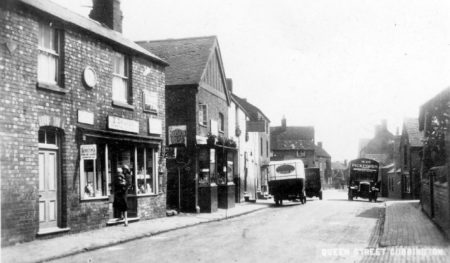 General view of Queen Street Cubbington.  1930 |  IMAGE LOCATION: (Warwickshire County Record Office)