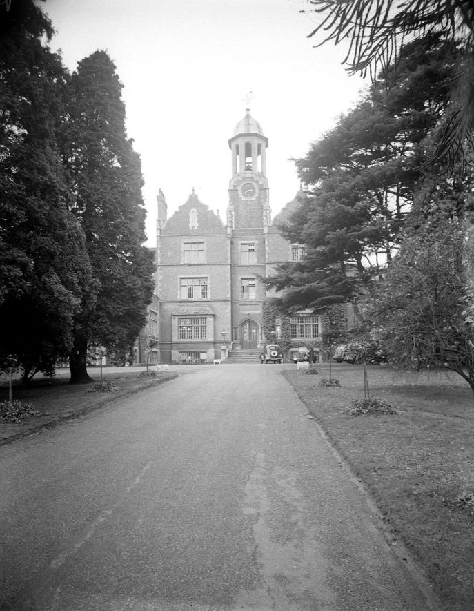Hatton Central Hospital View of tower from drive.  1953 |  IMAGE LOCATION: (Warwickshire County Record Office)