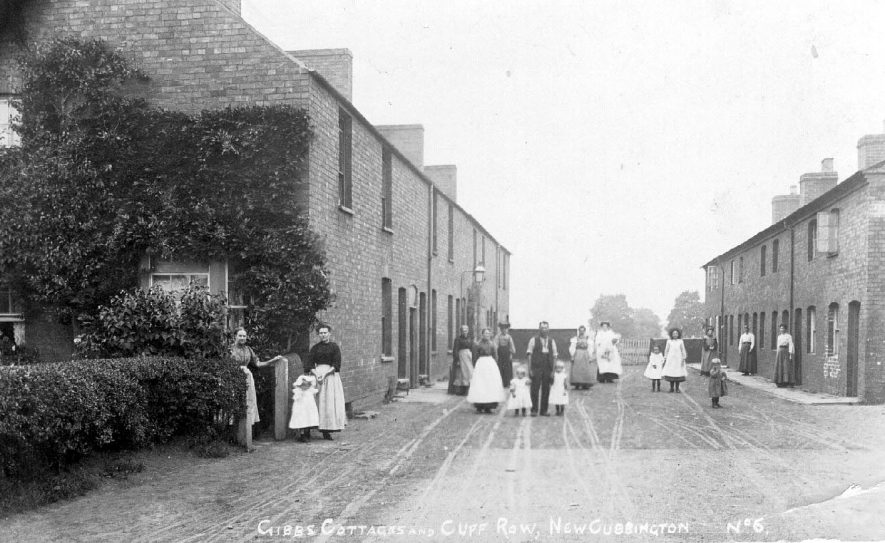 Gibbs cottages and Cliff Row, New Cubbington.  1900s |  IMAGE LOCATION: (Warwickshire County Record Office)