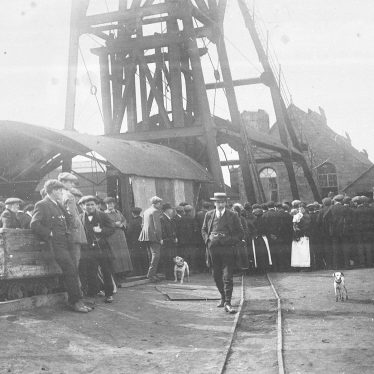 Exhall, nr Coventry.  Colliery fire damage