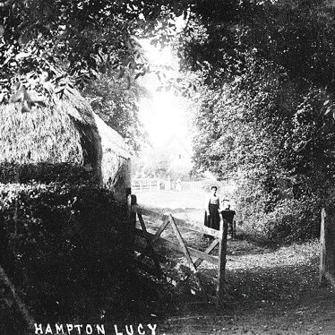 Hampton Lucy.  Mother Passmore and Edith in her Pram