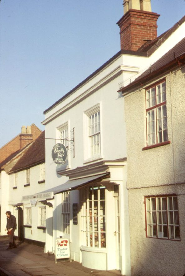 Nos 189 - 195 High Street, Henley in Arden.  1973 |  IMAGE LOCATION: (Warwickshire County Record Office)