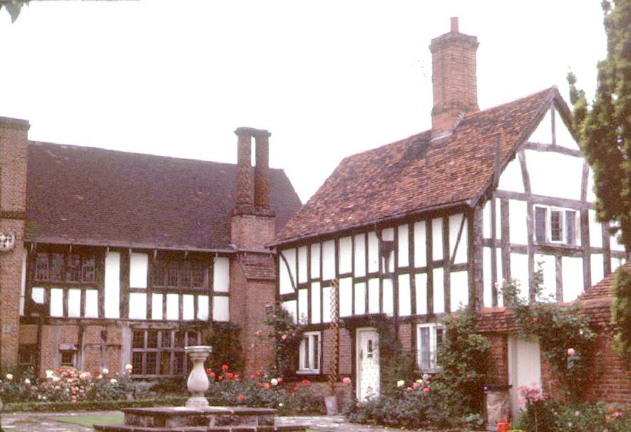 Guild Hall and cottage, Henley in Arden.  1973 |  IMAGE LOCATION: (Warwickshire County Record Office)