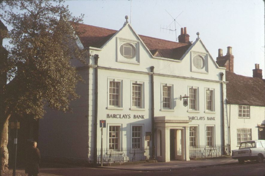 The Old Vicarage in High Street, now Barclays Bank, Henley in Arden.  1973 |  IMAGE LOCATION: (Warwickshire County Record Office)