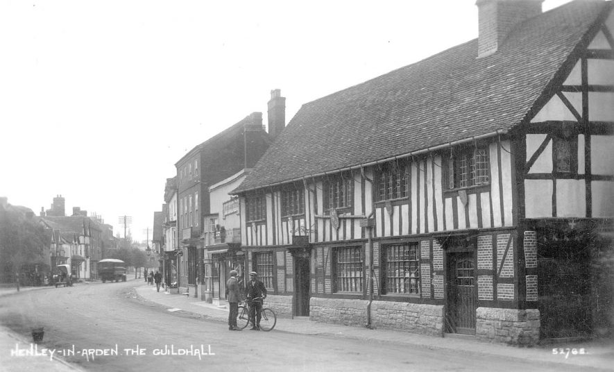The Guild Hall, Henley in Arden.  1910s |  IMAGE LOCATION: (Warwickshire County Record Office)