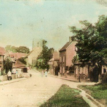 Henley in Arden.  Looking from Beaudesert