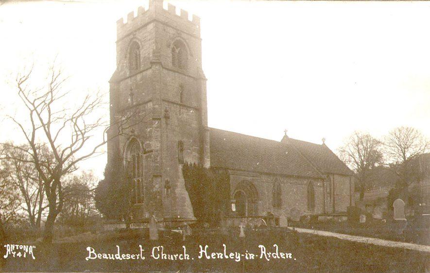 St Nicholas' Church, Beaudesert.  1920s |  IMAGE LOCATION: (Warwickshire County Record Office)