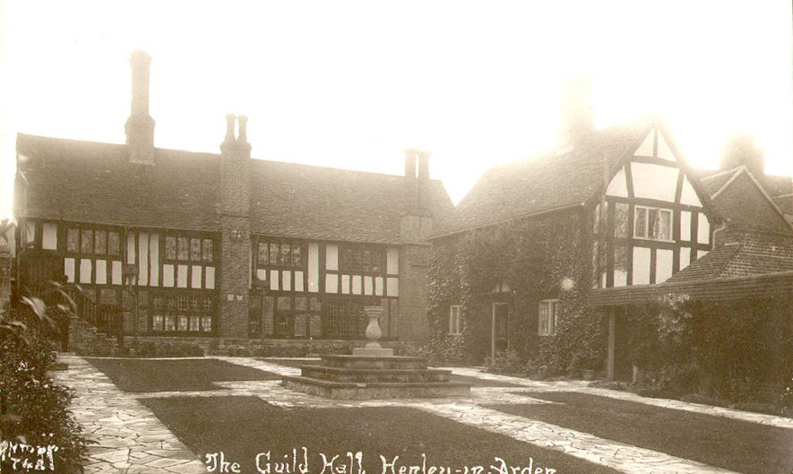 The Guildhall, Henley in Arden.  1920s |  IMAGE LOCATION: (Warwickshire County Record Office)
