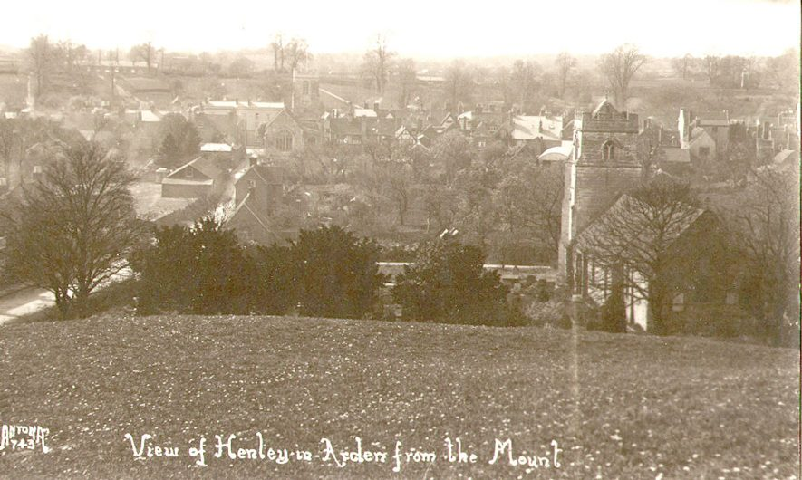 View of village from the Mount, Henley in Arden.  1920s |  IMAGE LOCATION: (Warwickshire County Record Office)