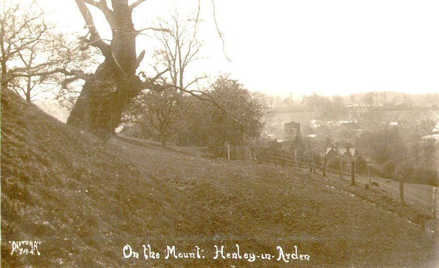 On the Mount, this is probably Beaudesert, Henley in Arden.  1920s |  IMAGE LOCATION: (Warwickshire County Record Office)
