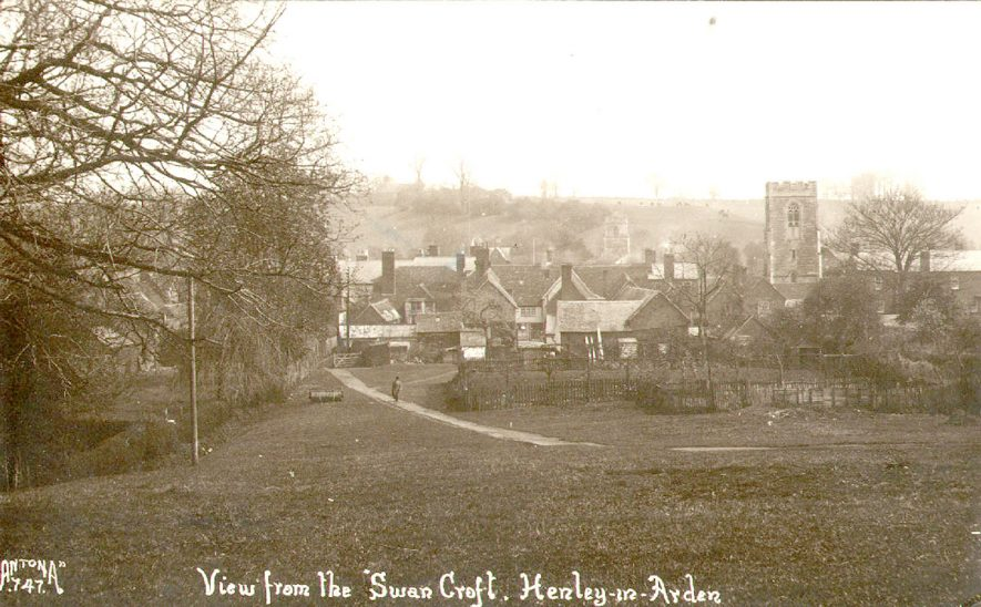 View from Swan Croft, Henley in Arden.  1920s |  IMAGE LOCATION: (Warwickshire County Record Office)