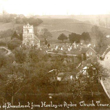 Beaudesert.  View from Henley church tower