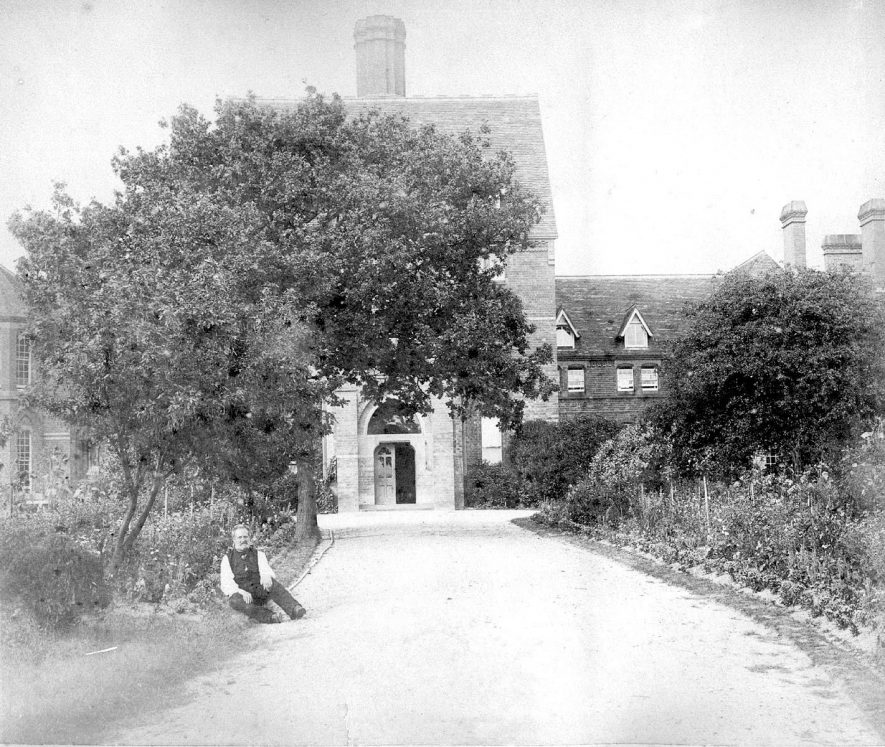 Path leading to a branch building at the asylum (Central Hospital), Hatton.  1890s    IMAGE LOCATION: (Warwickshire County Record Office)
