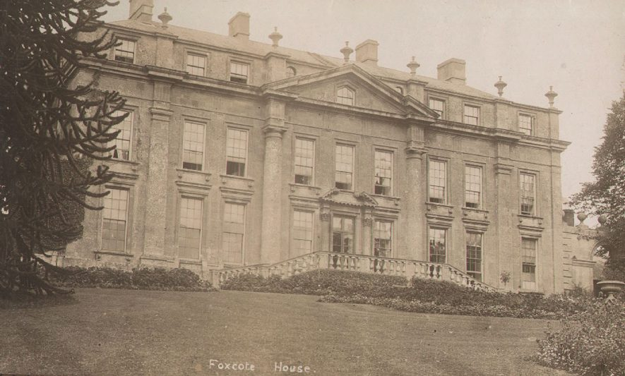 Exterior view of Foxcote House, Foxcote.  1920s |  IMAGE LOCATION: (Warwickshire County Record Office)