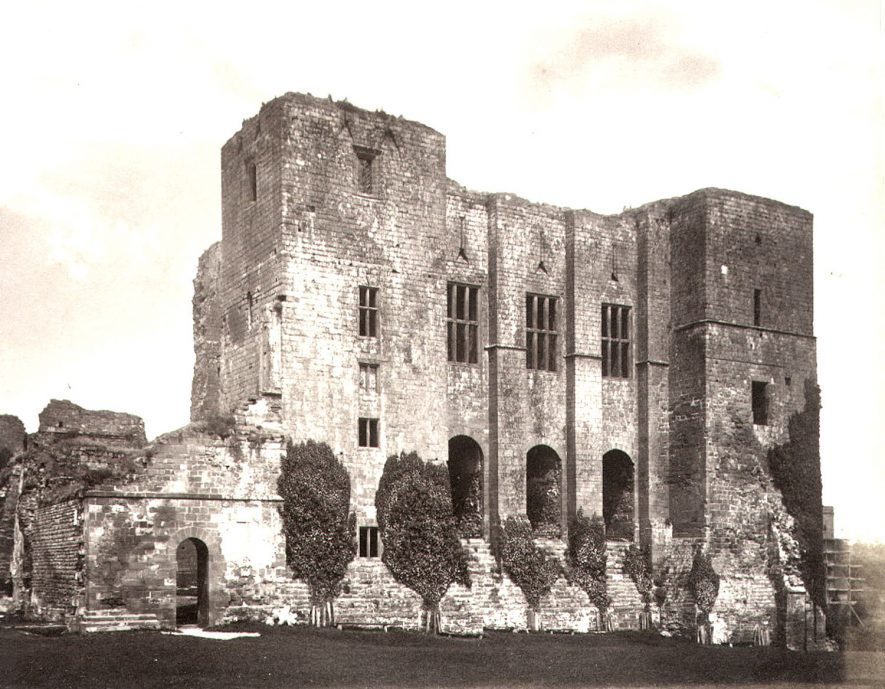 Part of Kenilworth Castle ruins.  1880s |  IMAGE LOCATION: (Warwickshire County Record Office)