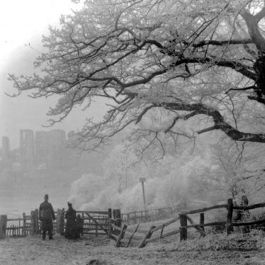 Kenilworth.  Castle in winter