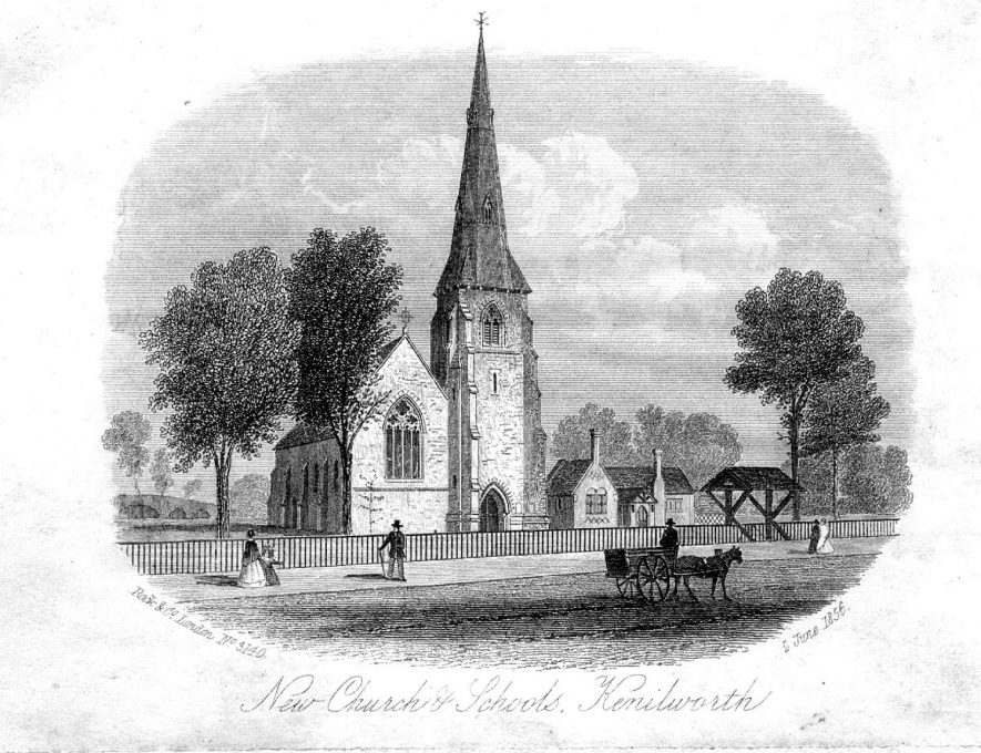 Parish Church of St John's, Kenilworth. Engraving from