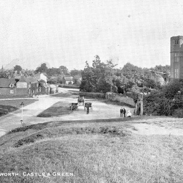 Kenilworth.  Castle Gatehouse and Castle Green