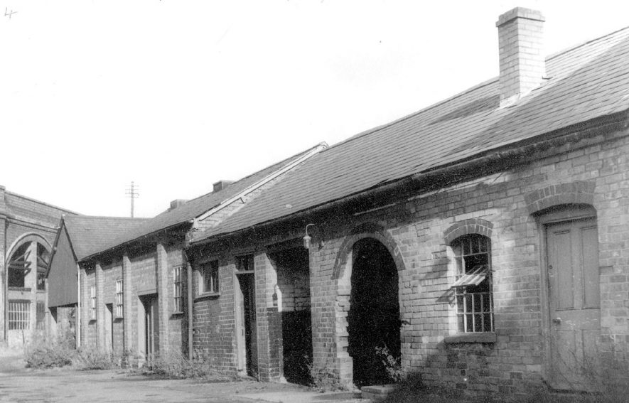 Some of the original buildings at the old gas works in Dalehouse Lane, Kenilworth, which were erected about 1850.  1960s |  IMAGE LOCATION: (Warwickshire County Record Office)