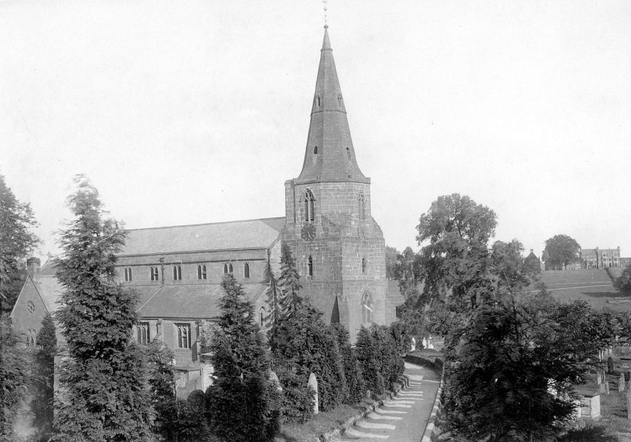 St Nicholas'Church from NW, Kenilworth.  1892 |  IMAGE LOCATION: (Warwickshire County Record Office)