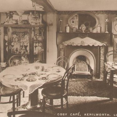 Kenilworth.  Lustre Room in The Cosy Cafe