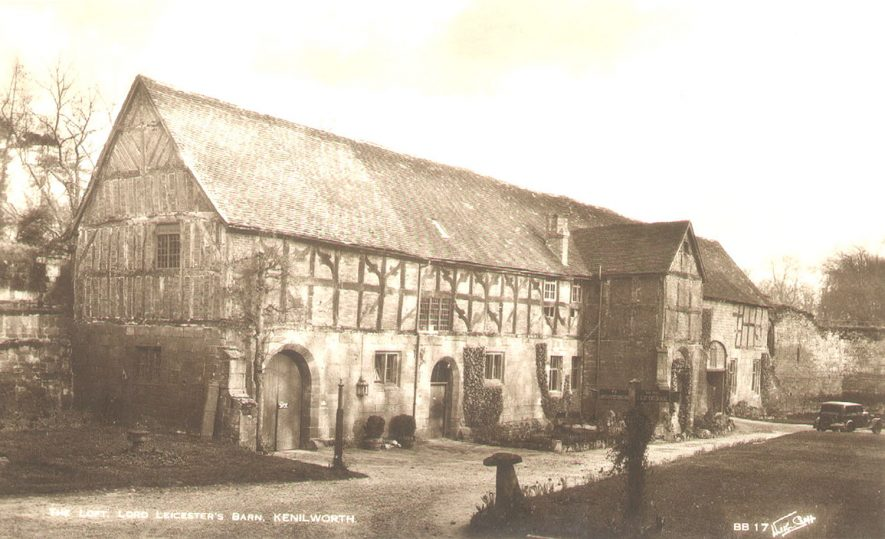 The Loft, Lord Leicester's Barn, Kenilworth Castle.  1930s |  IMAGE LOCATION: (Warwickshire County Record Office)