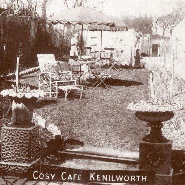 Kenilworth.  Cosy Cafe garden