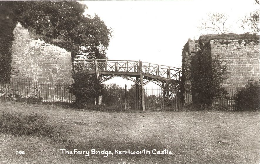 The Fairy Bridge, Kenilworth Castle.  1920s |  IMAGE LOCATION: (Warwickshire County Record Office)