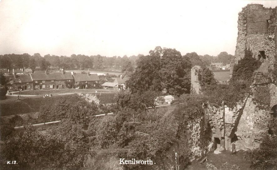 Castle Green, Kenilworth, seen from The Castle.  1920s    IMAGE LOCATION: (Warwickshire County Record Office)
