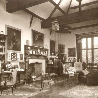 Kenilworth.  Guard Room, Great Gatehouse