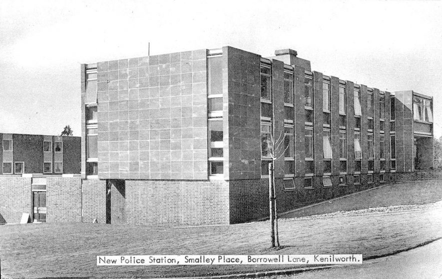 Exterior of the new police station in Smalley Place, Kenilworth.  1960s |  IMAGE LOCATION: (Warwickshire County Record Office)