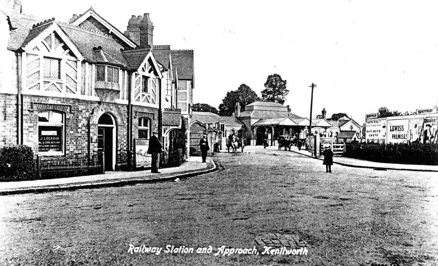Kenilworth railway station and approach.  1900s |  IMAGE LOCATION: (Warwickshire County Record Office)