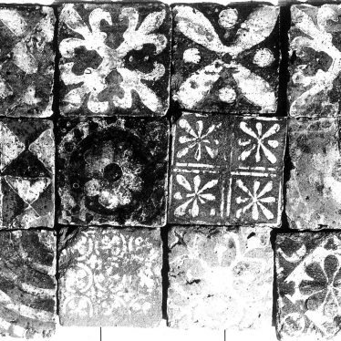 Kenilworth.  St Mary's Abbey, floor tiles