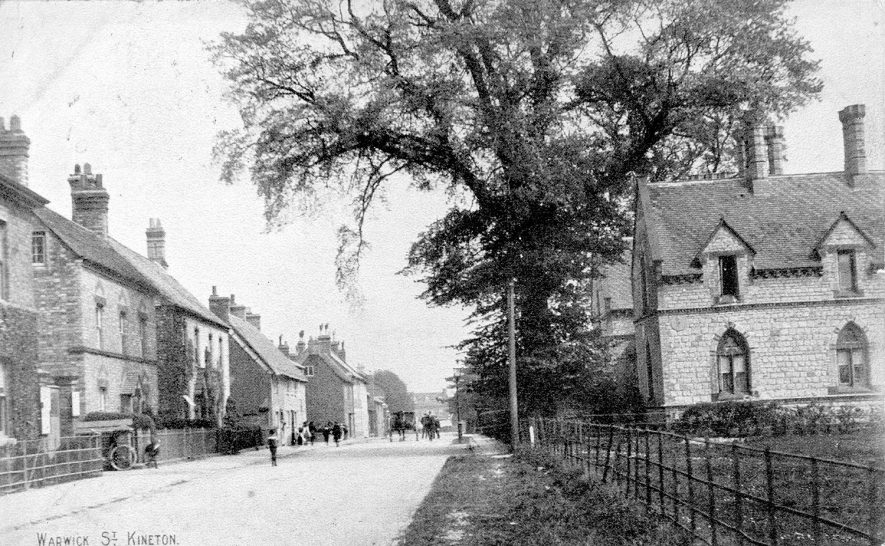 Warwick Street (Road), Kineton. Cottages & brick houses. 1907. |  IMAGE LOCATION: (Warwickshire County Record Office)