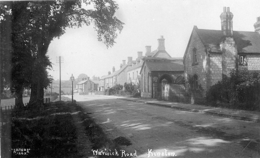 Warwick Road, Kineton, showing cottages and  brick housing.  1920s |  IMAGE LOCATION: (Warwickshire County Record Office)