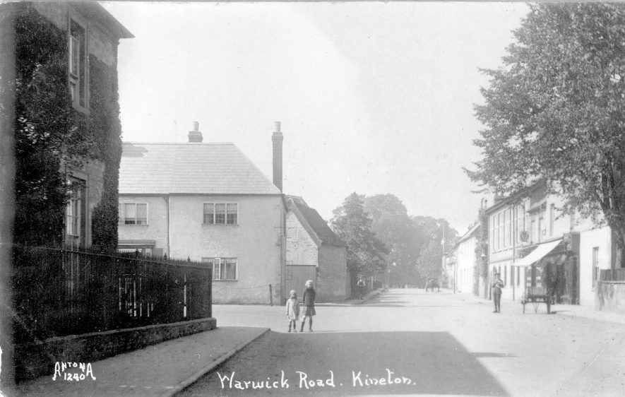 Warwick Road, Kineton, showing houses & shop.  1921 |  IMAGE LOCATION: (Warwickshire County Record Office)