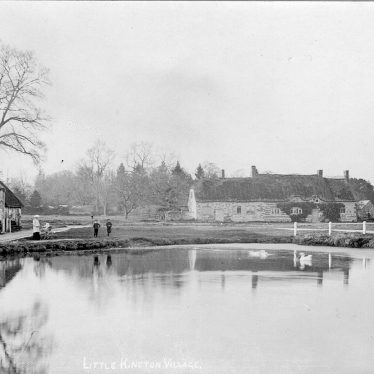 Little Kineton.  Village and pond